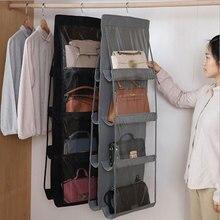 6/8 карман подвесная сумка-Органайзер для деткой одежды посуды прозрачная сумка для хранения из нетканого материала для хранения держатель ...