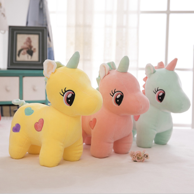 20/25cm Baby Kids Plush <font><b>Toys</b></font> Soft <font><b>Unicorn</b></font> Doll Appease Sleeping Pillow Kids Rainbow Horse <font><b>Toys</b></font> <font><b>for</b></font> <font><b>Girls</b></font> Christmas Birthday Gift image