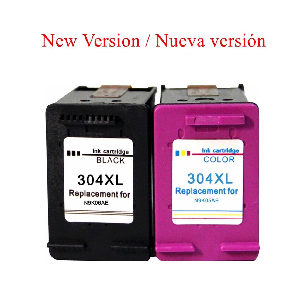Nueva 304XL Cartuchos de tinta para HP 304 para HP ENVY 5020 5030 5032 DeskJet 2620 2630 3762 3760 3750 3733 3764 3733