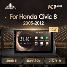 KingBeats Android 8.1 unità di testa 4G in Dash Car Radio Multimedia Video Player di Navigazione GPS Per Honda Civic 8 FK FN FD 2005 2012(China)