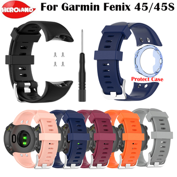 Silicone Band Wrist strap For Garmin Forerunner 45 Smart Watch Replacement Watchband For Garmin Forerunner 45 45S Wristband Belt for garmin instinct watch strap silicone band replacement smart accessories wristband for garmin instinct watchband bracelet