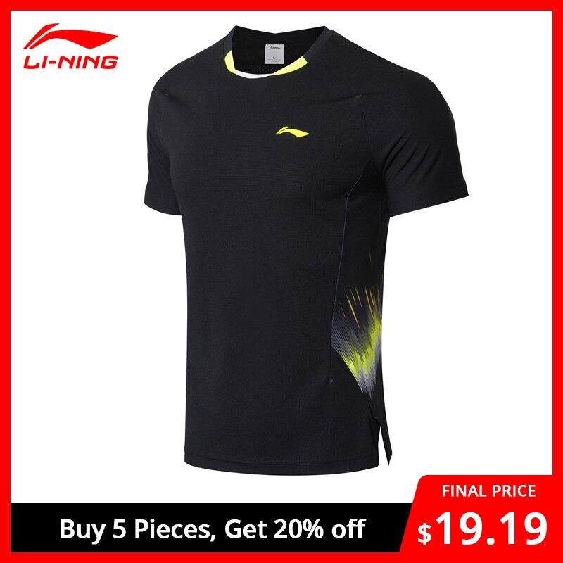 Li-Ning Men Badminton T-shirt National Team Sponsor Fans Version ATDRY Breathable Li Ning LiNing Competition Tee AAYN261 MTS2892