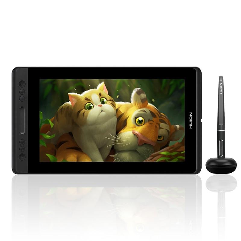 HUION Kamvas Pro 13 Monitor per Display con tavoletta grafica con tasti Express Touch Bar 8192 livelli supporto inclinazione penna senza batteria