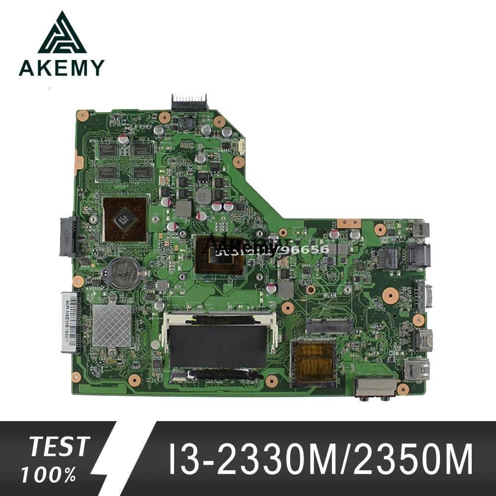 Akemy K54HR Laptop Motherboard For ASUS K54HR X54HR X54HY K54LY X54H Test Original Mainboard I3-2330M/2350M PM