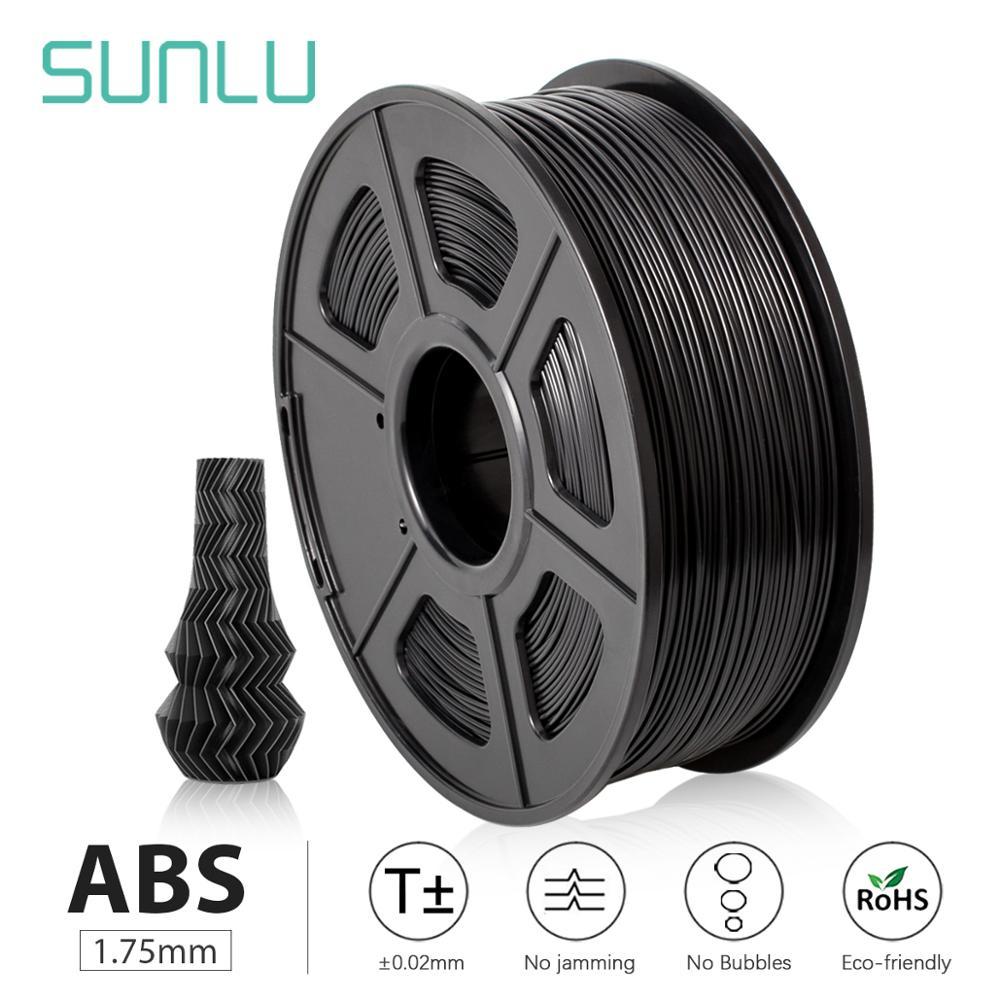 SUNLU ABS 3D Printer Filament ABS Filament 1 75 mm 3D Printing filament Low Odor Dimensional Accuracy   - 0 02 mm 2 2 LBS  1KG