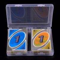 Juego de cartas de plástico PVC para entretenimiento familiar, juego de cartas transparentes A prueba de agua y presión con caja, 108 unidades