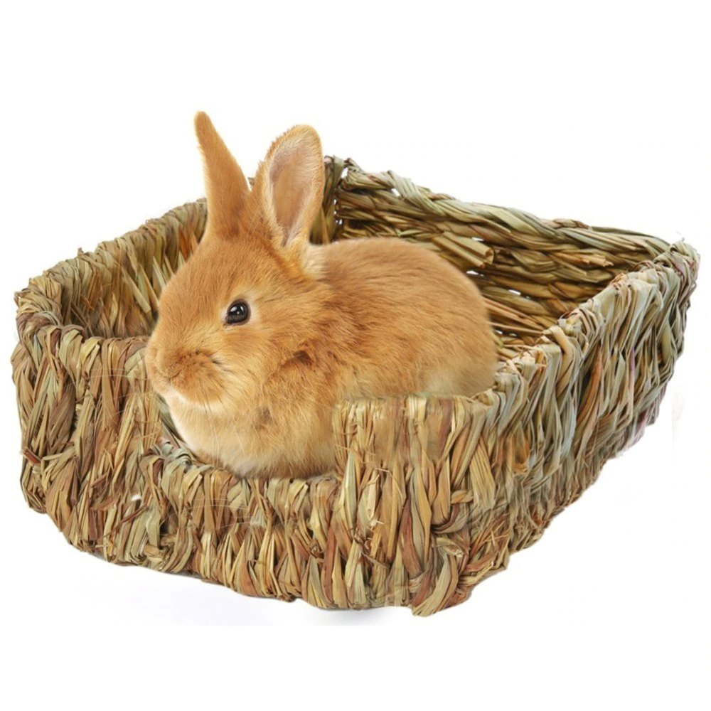 Handcrafted Woven Grass Hamster Nest Small Pet Rabbit Hamster Cage House Chew Toys Guinea Pig Rat Hedgehogs Chinchilla Bed House