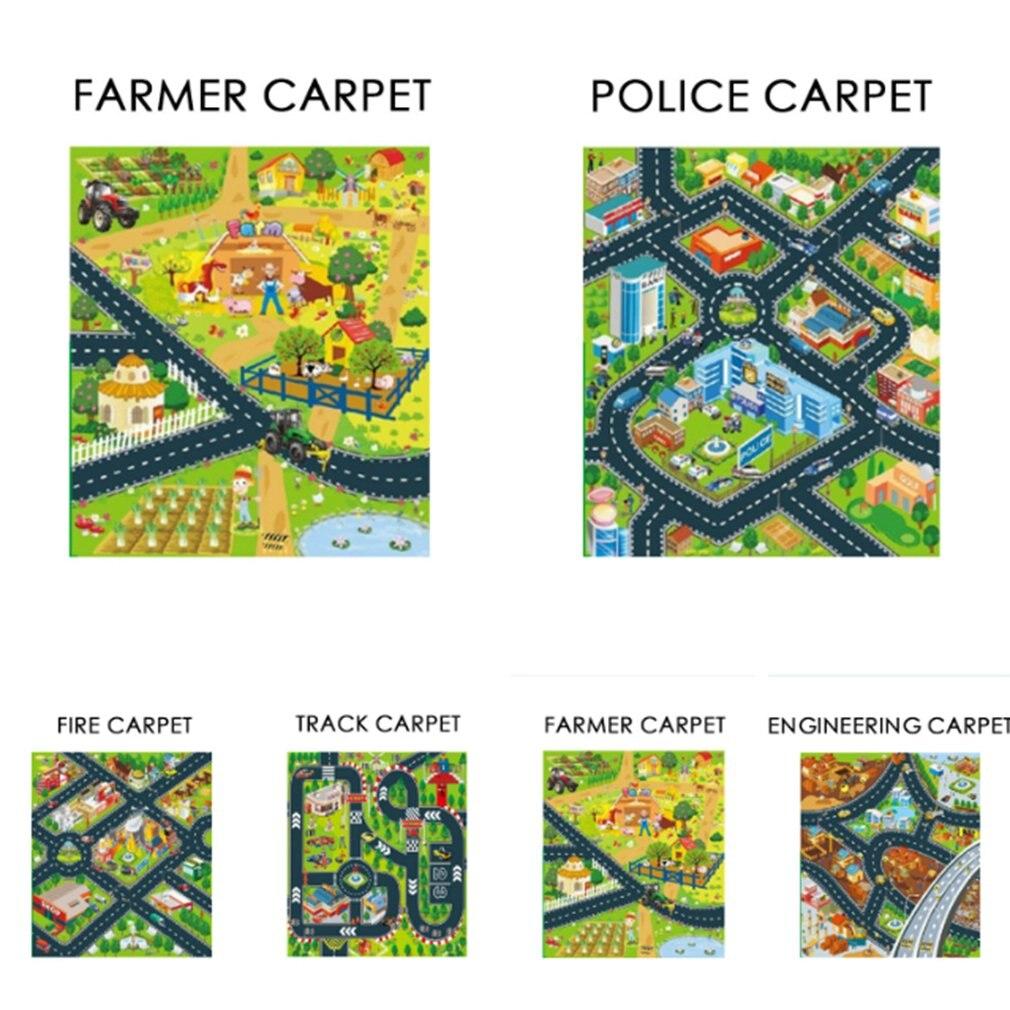 Baby Plush Carpet Lane Pattern Carpet Mat Anti-Skid Shatter-Resistant Game Crawling Mat Early Learning Pattern Mat