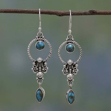 Unique Style fashion women earrings vintage dangle silver Bohemia Indian Jewelry aretes