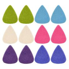 12 Pieces Colorful Soft Felt Plectrum Mediator Ukulele Picks Plectrums Economy 3Mm Thickness