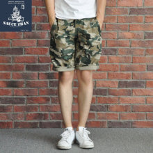 SauceZhan Camouflage Shorts Cargo PANTS Casual Shorts Joggers Men Camouflage PANTS Camo Short Pants ARMY HBT Camo Pants(China)