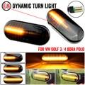 2 шт. светодиодный динамический Боковой габаритный фонарь поворота светильник последовательного мигалка светильник для Volkswagen VW Bora Golf 3 4 Passat...