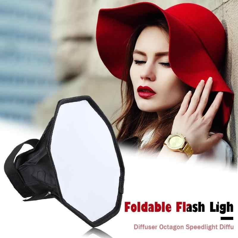 Universel 20cm octogone Flash lampe Softbox pliant Speedlight diffuseur Photo Studio lumière Supppy photographie éclairage accessoires