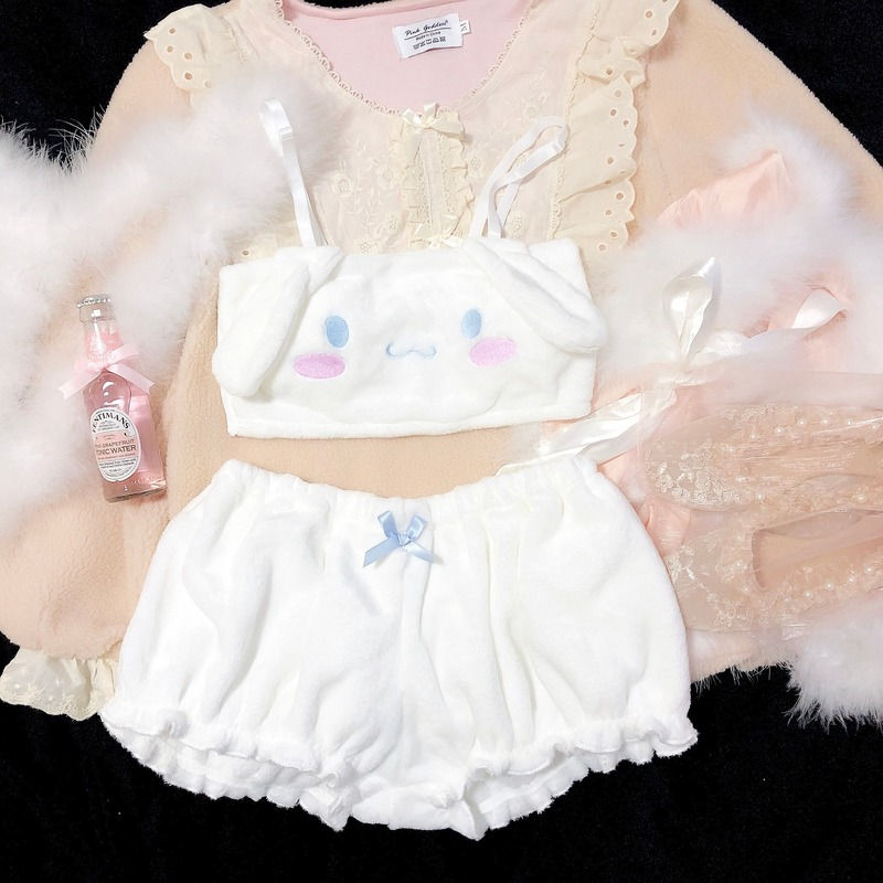 H95ff4eb182a44714999dea0b3fc0ede8P - เสื้อผ้าเซ็กซี่ ชุดนอนน่ารัก ชุดชั้นในสำหรับสาวๆ เด็กสาวกระต่ายน้อย สีขาว สีชมพู COSPLAY Kawaii Cinnamoroll My Melody
