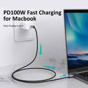 Image 4 - Cabo de tempo pd 100w thunderbolt 3 certificado 40gbps usb tipo c para usb c cabo usb c rápido para macbook pro carregamento rápido c024