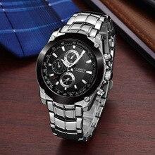 Curren luxury Brand Watch Mens Quartz Fashion Casual Sports all Steel Waterproof Relogio Masculino 2019