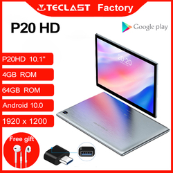 Tablet P20HD 10.1inch Octa Core 4G Phone Call Android10 1920×1200 4GB RAM 64GB ROM Type-C AI-speed-up 6000mAh tablet PC Teclast