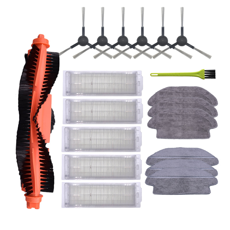 Side Brush Mop Cloth Replacement HEPA Filter For Xiaomi Mijia STYJ02YM Viomi V2 V-RVCLM21B Vacuum Cleaner Spare Parts Kits
