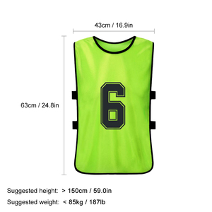 Image 5 - 12 PCS Adults Soccer Pinnies Quick Drying Football Team Jerseys Youth Sports Scrimmage Soccer Team Training Numbered Bibs