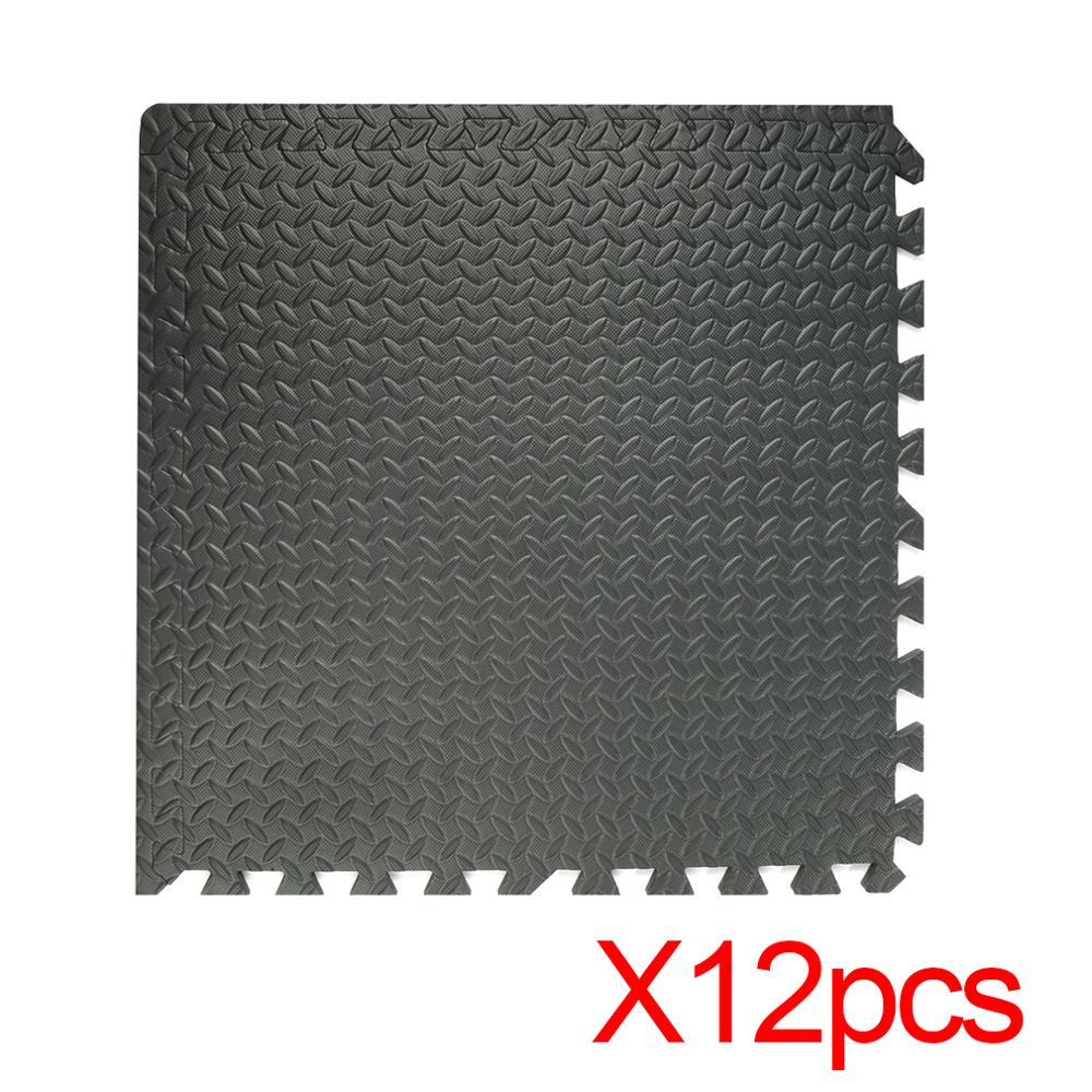 12 Pieces Professional Interlocking Eva Foam Mats Tiles Gym Shock Absorbing Waterproof Comfortable Interlocking Flooring Mats