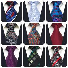 Accessories Ties for Men Extra Long Neckties Paisley Solid Blue Stripes