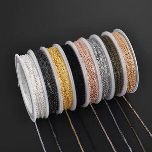 10m/rolo diy cobra corrente de cobre link corrente para artesanal colar pulseira corrente para fazer jóias descobertas
