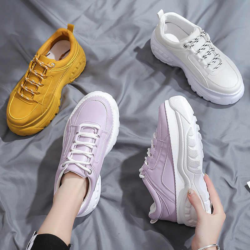 2019 Herfst Platform buffalo Schoenen Vrouwen Casual Sneakers Ronde Neus Flats Zapatillas Mujer ST456 ST463