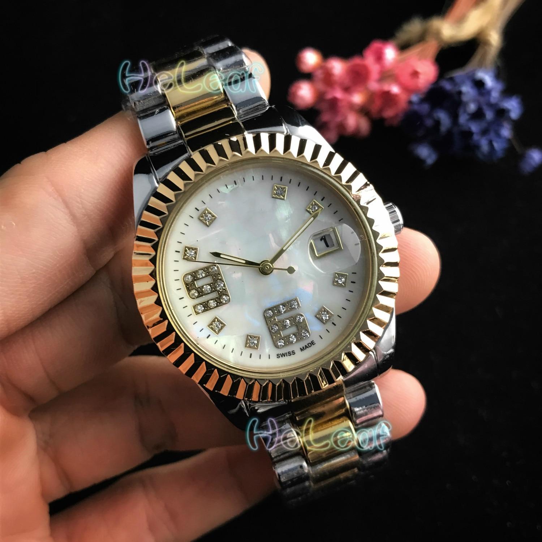 Fashion Silver Gold Stainless Brand Watch Quartz Wrist Watches Ladies Women Men Female Clock Montre Femme Relogio