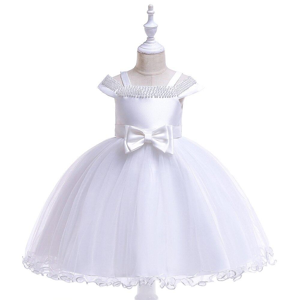 New High Quality Satin Tulle   Flower     Girl     Dress   2019 New Floor Length   Dresses   3-8T