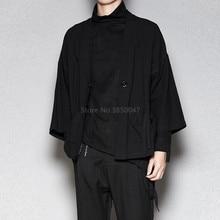 Cardigan Men Jacket Costumes Samurai Streetwear Harajuku Japanese-Style Vintage Plus-Size
