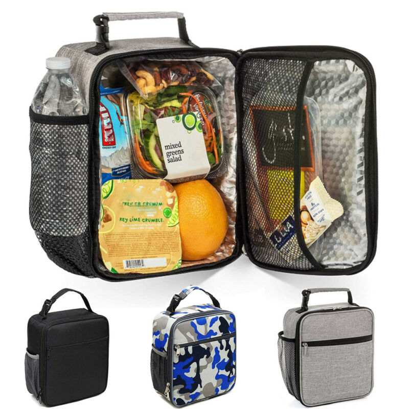 Thermal Insulated Lunch Bag Coolbag Work Picnic Adult Kids Food School Storage Lunchbox Mens Tote Carry Bags