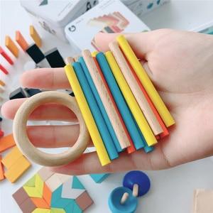 Image 3 - ไม้การเรียนรู้การศึกษาIntelligence Building Blockของเล่นเด็กแบบพกพาความรู้ความเข้าใจTravel Interactiveเกมของเล่นของขวัญ