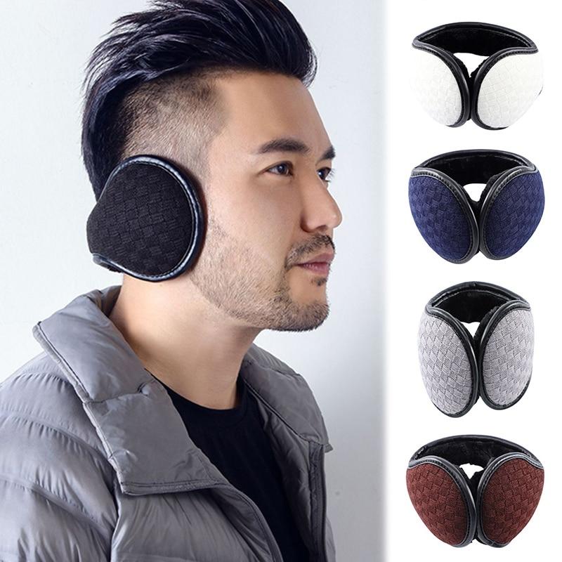 Warm Earmuff Men Women Kitted Ear Muffs Plush Adjustable Winter Headband For Sport Cycling Riding J55