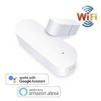 Smart Home Automation WIFI Tür Magnetische Monitor Fenster Sensor App Control Android IOS Sicherheit Detektor Alexa Google Kompatibel|Heimautomatisierungsmodule|   -