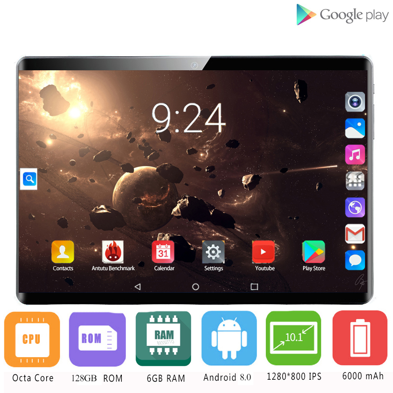 2020 Russian Tablet 10.1 Inch Tablet Andorid 8.0 6GB RAM 128GB ROM Tablets PC 4G Lte Phablet For Pad Netbook Gaming Computer