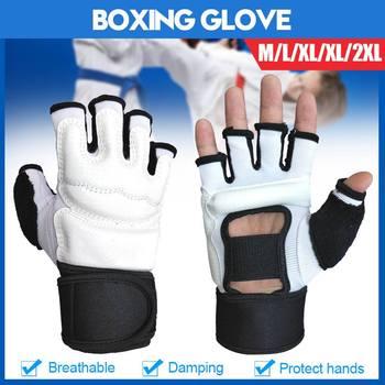La absorción de choque MMA lucha boxeo deportes guantes de cuero Tigre Muay Thai lucha caja MMA guantes de boxeo Sanda boxeo guante almohadillas