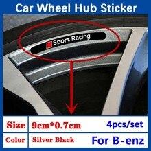 4 шт металлические колеса автомобиля наклейки втулки украшение-эмблема для Mercedes benz AMG W205 W204 W203 W212 W211 W210 W176 W124 W126 W140 W168