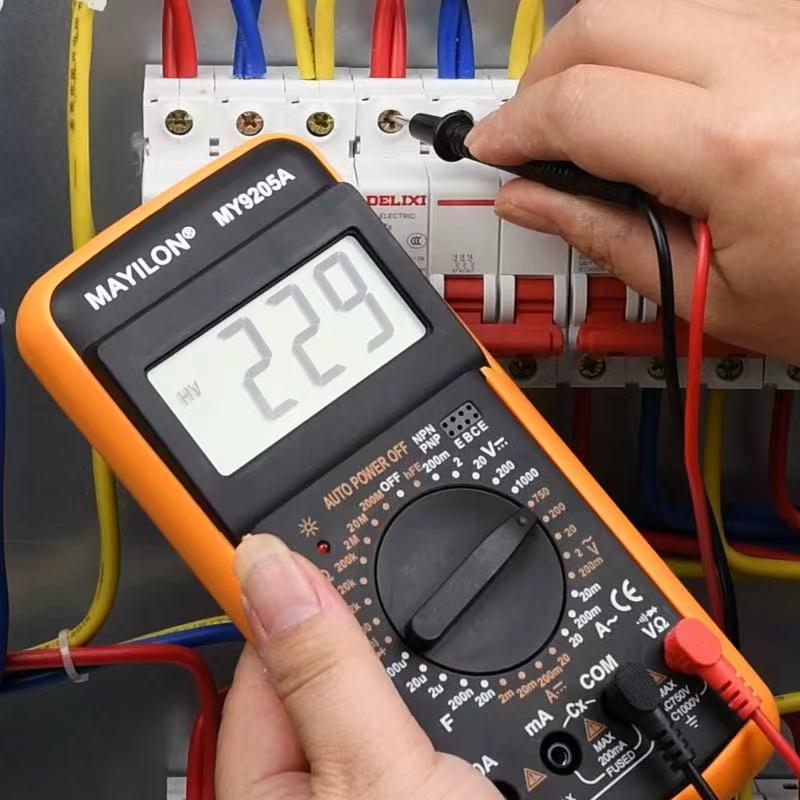 Мультиметр Цифровой DMM AC DC Вольтметр Ток Ом Емкость hFE портативный амперметр вольтметр измеритель конденсатор TRMS Гц ом тестер