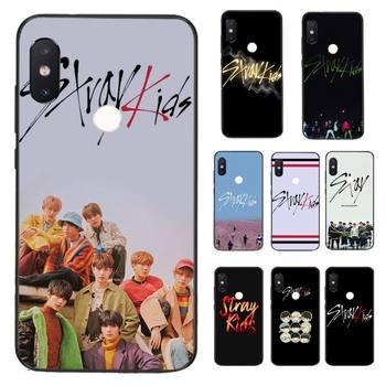 HTxian k pop-funda de teléfono de TPU blanda negro my stray kids para Xiaomi Redmi 5 5Plus, 6, 6A, 4X, 7, 7A, 8, 8A, 9, Note 5, 5A, 6, 7, 8Pro, 8T, 9