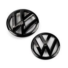 Emblema para grade frontal 117mm, emblema emblema de tampa de porta-malas traseiras de 110mm para vw volkswagen polo 2009 2010 2011 2012 2013