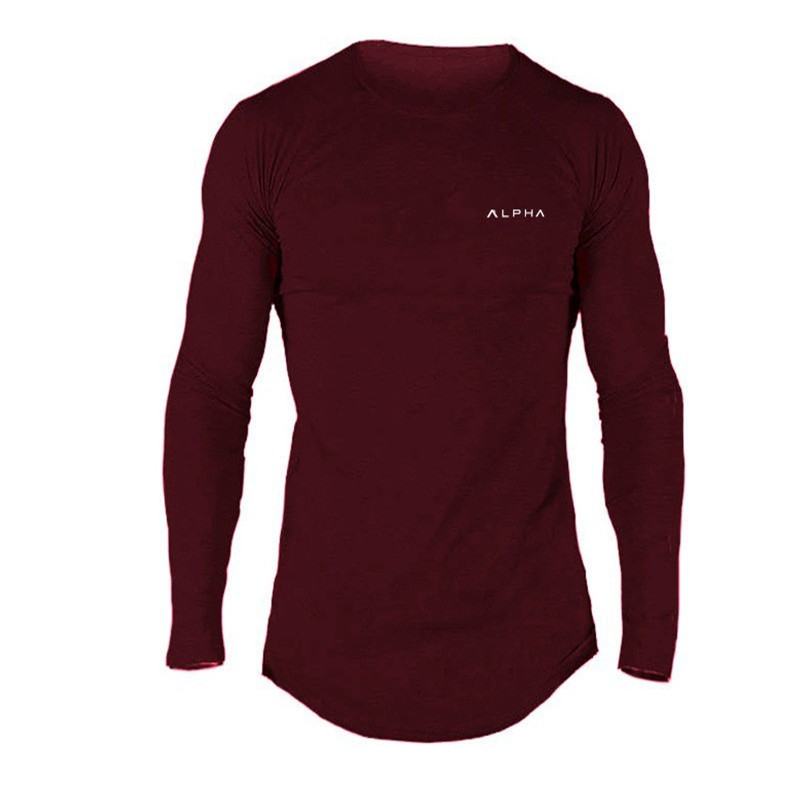 Hot 2019 New Spring Autumn Fashion Brand O-Neck Slim Fit Gyms Long Sleeve T-Shirt Men Trend Casual Mens T-Shirt Korean T-Shirts