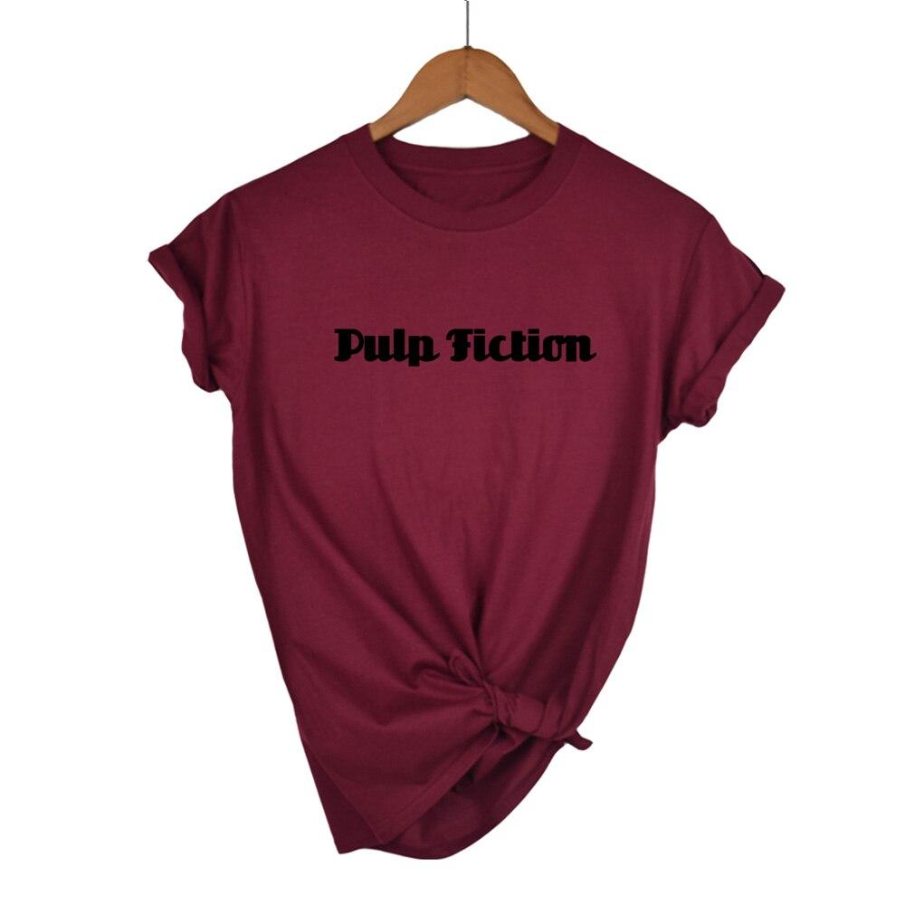 Nova polpa filme de ficção t camisa feminina harajuku ullzang 90s coreano camiseta estética engraçado impressão tshirt gráfico topo t feminino