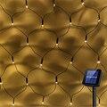 1 1x1 1 м 2x3 м Светодиодная сетчатая гирлянда на солнечных батареях 8 режимов садовые оконные занавески декоративные огни для рождественской с...