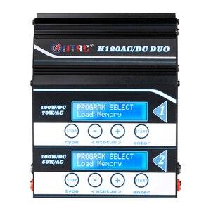 Image 2 - HTRC H120 Pin Sạc Đôi Đầu Ra 50W/70W 100W * 2 10A AC/DC RC cân Bằng Discharger Cho Lilon/LiPo/Cuộc Sống/LiHV/Pb Pin