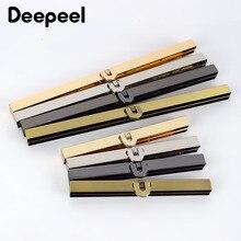 Deepeel 2/5pcs 11.4/19cm Metal Wallet Frame Coins Buckles Purse Kisss Lock Clasp DIY Bag Parts Hardware Decor Accessories BF090