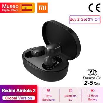 Nuevos auriculares inalámbricos Xiaomi Redmi AirDots 2 Mi True, 2 Bluetooth básicos con auriculares inalámbricos, auriculares TWS Bluetooth 5,0, conexión automática