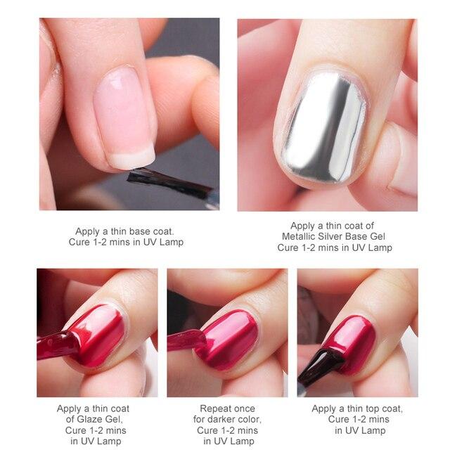Sliver Gel Base Metal Effect Line Gel Soak Off Led Glass Transparent Colors Gel Polish 5g Cheap Nail Venalisa UV Gel 4