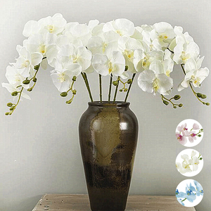 Image 2 - 1PC Artificial Phalaenopsis Flower Silk Butterfly Orchid Branch Artificial Flowers for Wedding Backyard Living Room Decoration