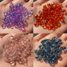 Hairpins Jewelry-Making Lampwork Diy-Accessories Crystal Czech Glass Multi-Gradient Loose-Love-Beads