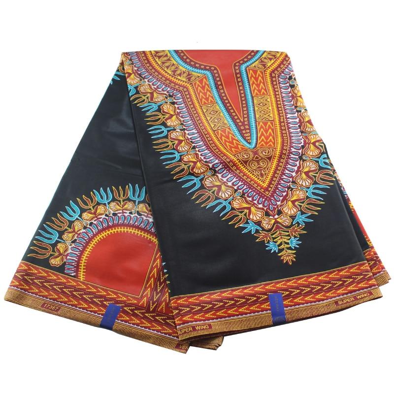2020 Latest 100% Cotton African Fabric Dashiki Print Wax Africain Style Real Nigeria Wax Real Wax Style